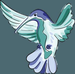 Drawn hummingbird clipart