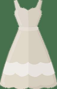 Wedding dress clipart