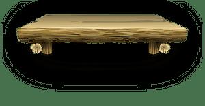 Log cabin shelf clipart