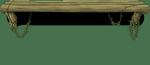 Old log shelf clipart
