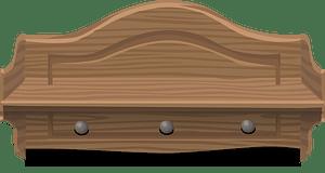 Small wooden shelf clipart