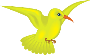 Yellow hummingbird clipart