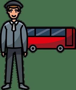 Bus driver clipart