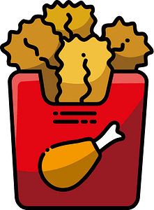 Chicken nuggets clipart