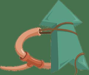 Green arrow up sign clipart