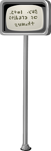 Note pole clipart