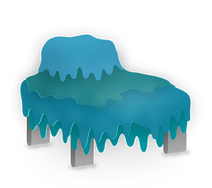 Blue waterfall bed clipart