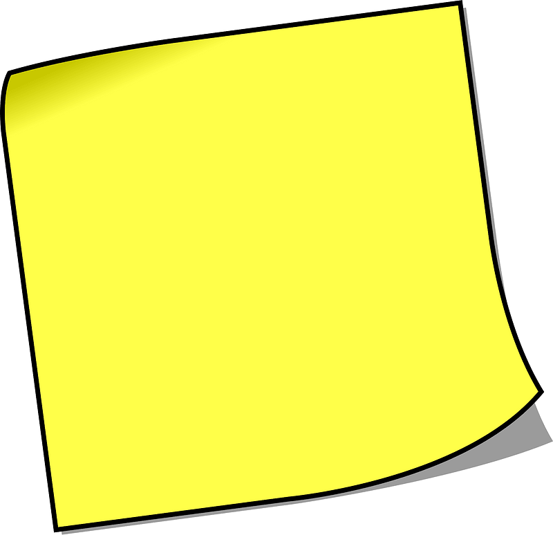 Blank sticky note clipart. Free download transparent .PNG ...