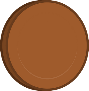 Brown coin clipart