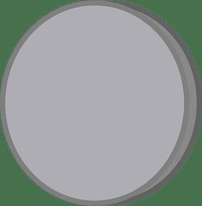Grey coin clipart