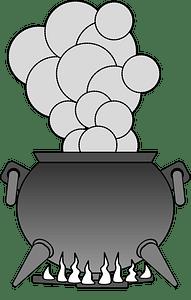 Grey cauldron clipart