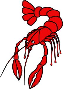 Cartoon lobster clipart
