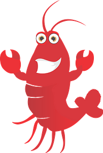 Happy lobster clipart