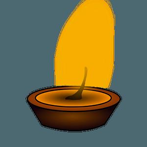 Buddhist light clipart