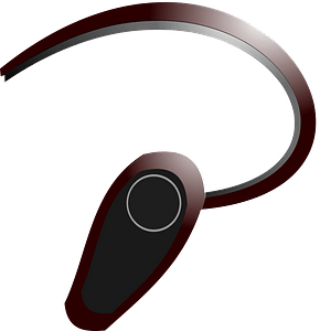 Bluetooth headset clipart