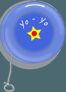 Blue Yo-Yo clipart