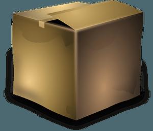 Cardboard box clipart