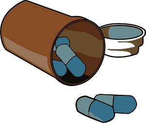 Spilled pills clipart