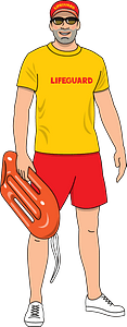 Lifeguard clipart