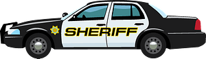 Sheriff car clipart