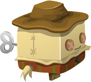 Cubimal scarecrow clipart