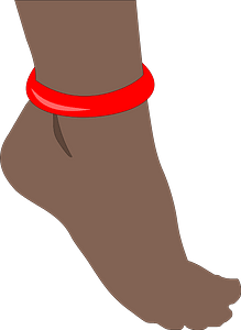 Foot with anklet clipart