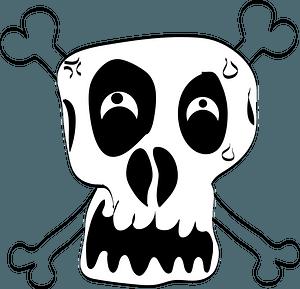 Funny skull clipart