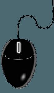 Black computer mouse clipart