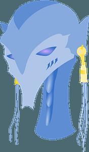 Blue alien head clipart