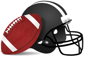 American football and helmet clipart