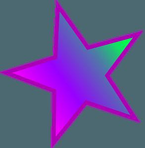 Purple star clipart