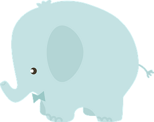 Cute elephant with bow tie clipart