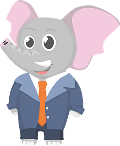 Elephant office worker clipart