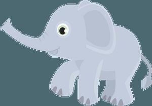 Cartoon elephant 클립 아트