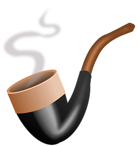 Vintage smoking pipe clipart