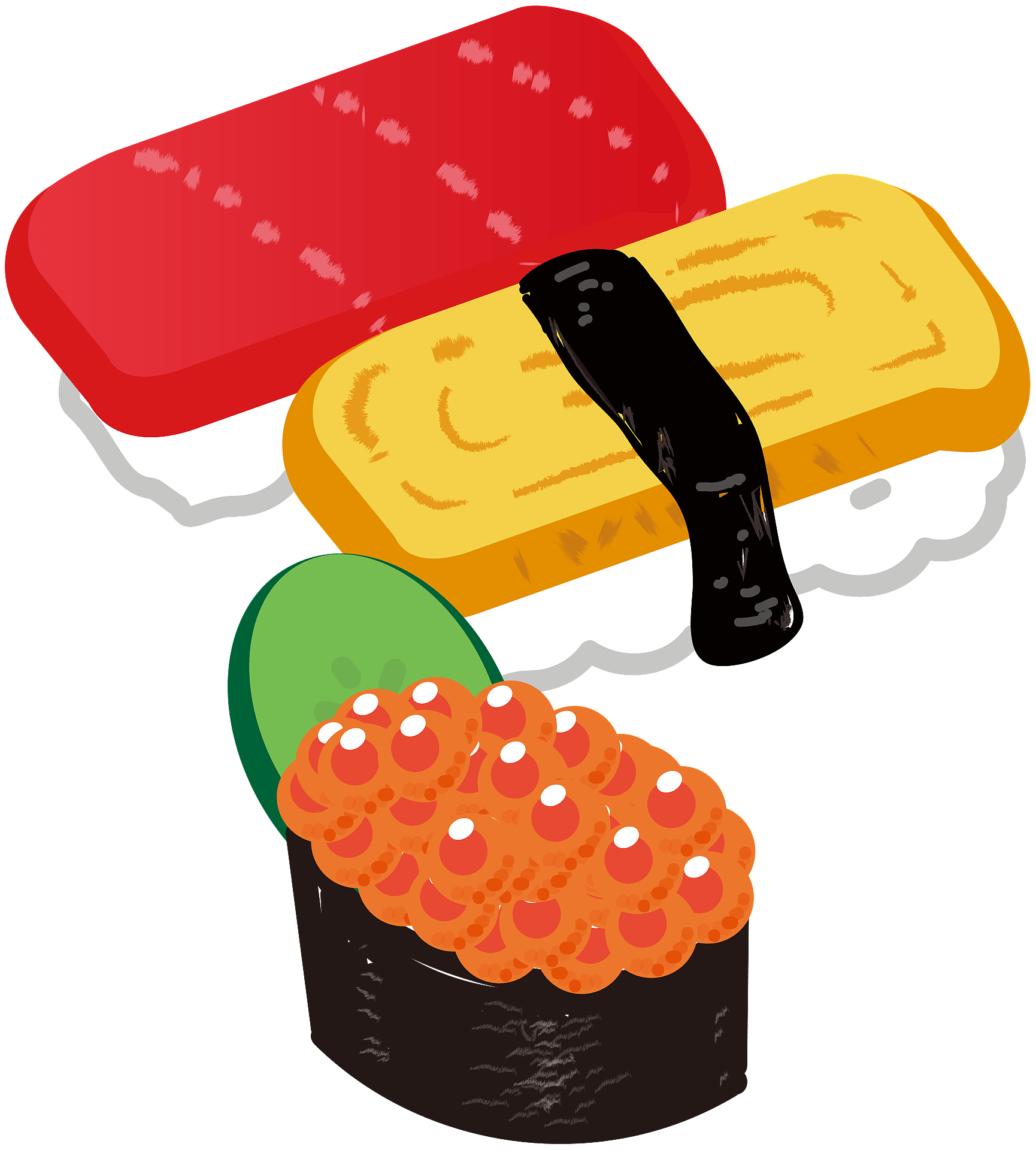 Clipart - Sushi Clipart, HD Png Download , Transparent Png Image - PNGitem