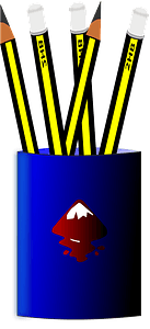 Pencil stand clipart