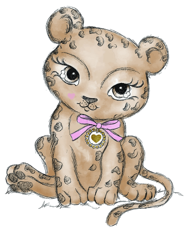 Cute wild cat 클립 아트