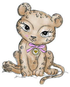 Cute wild cat clipart