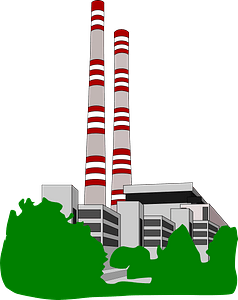 Conventional power station clipart
