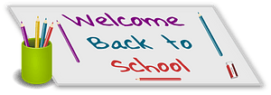 Welcome back to school clipart