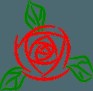 Rose - line art clipart