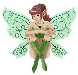 Sitting elf fairy clipart