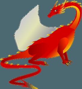 Fire dragon clipart