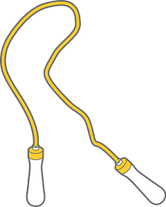 Skipping rope clipart