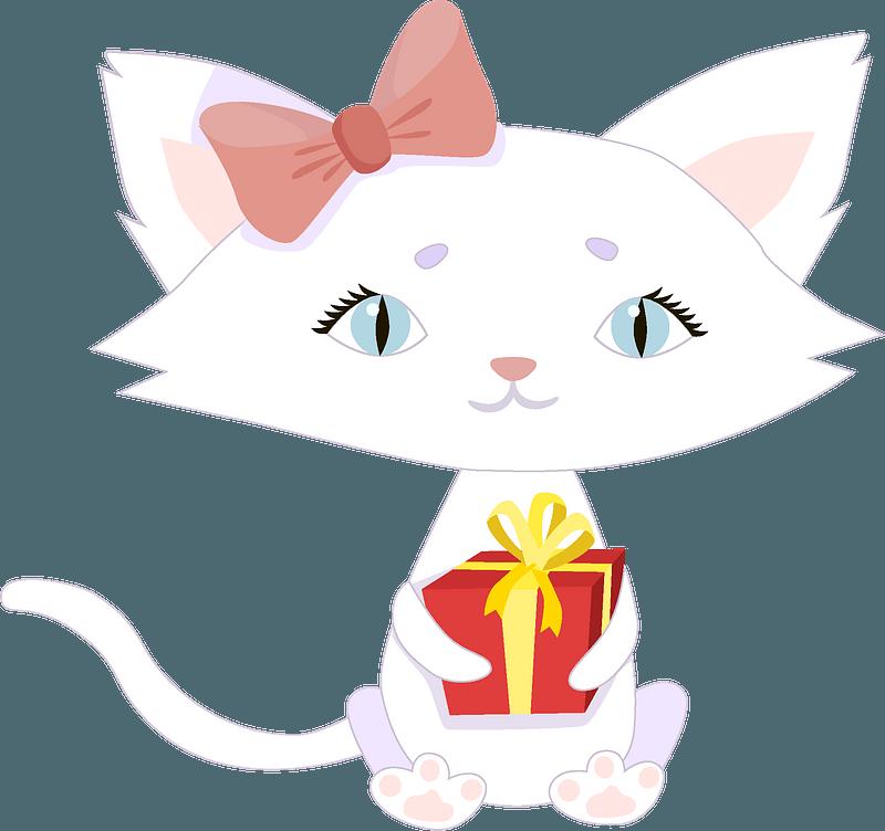 Birthday kitty clipart