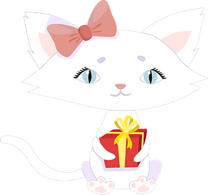 Birthday kitty clipart