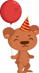 Birthday bear clipart