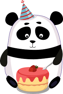 Birthday panda clipart