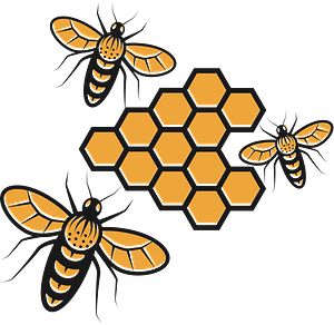 Bees making honey clipart